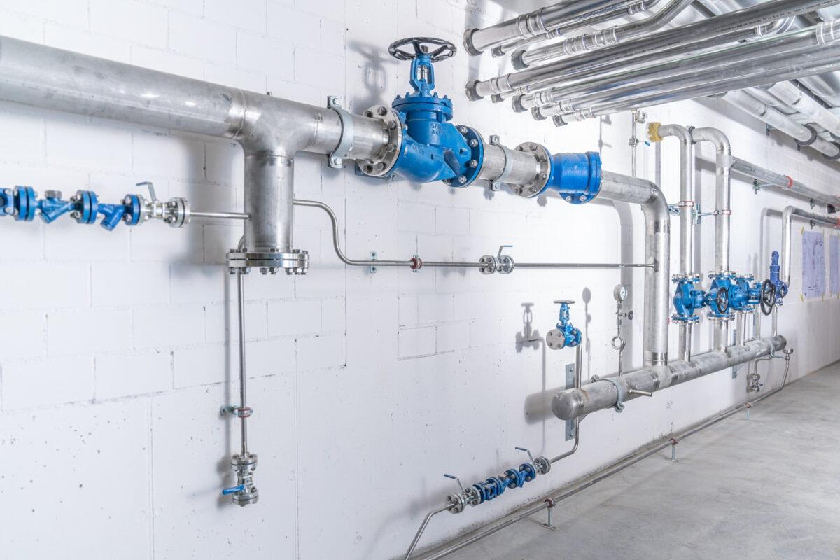 Dampfanlage Rohrleitungsbau Chromstahl